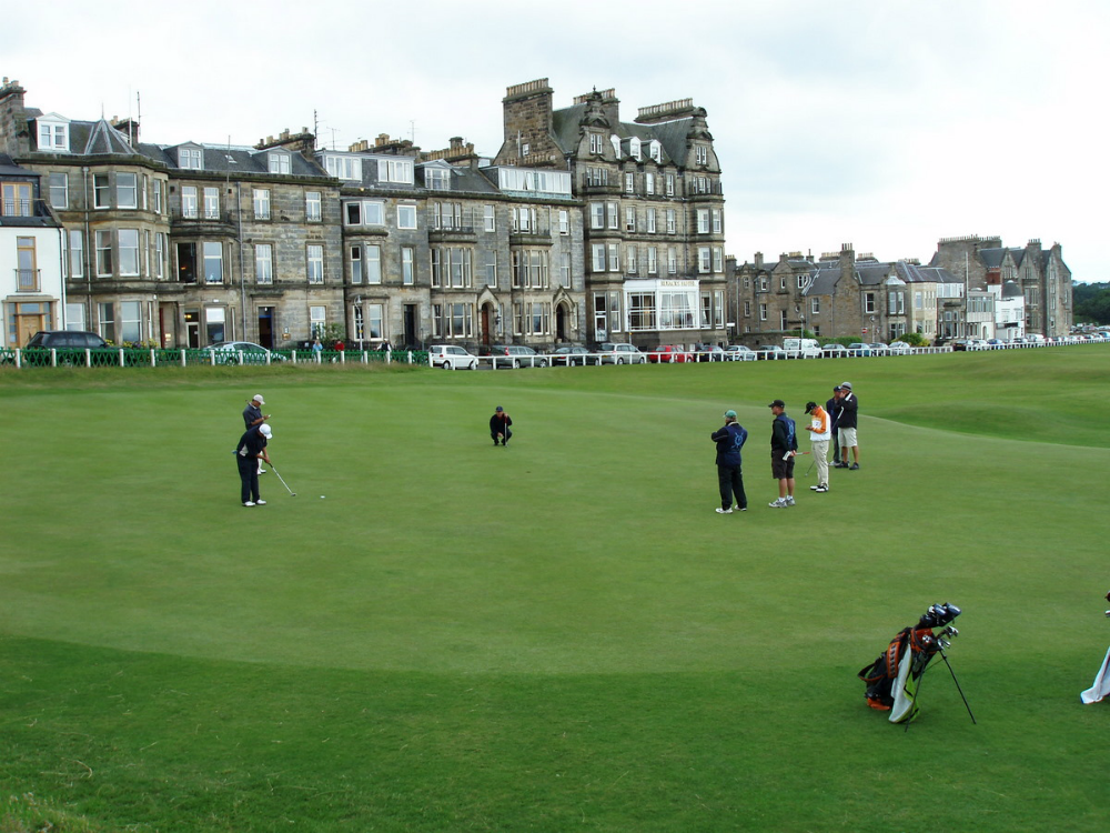 St Andrews behind the Old Course 18th green