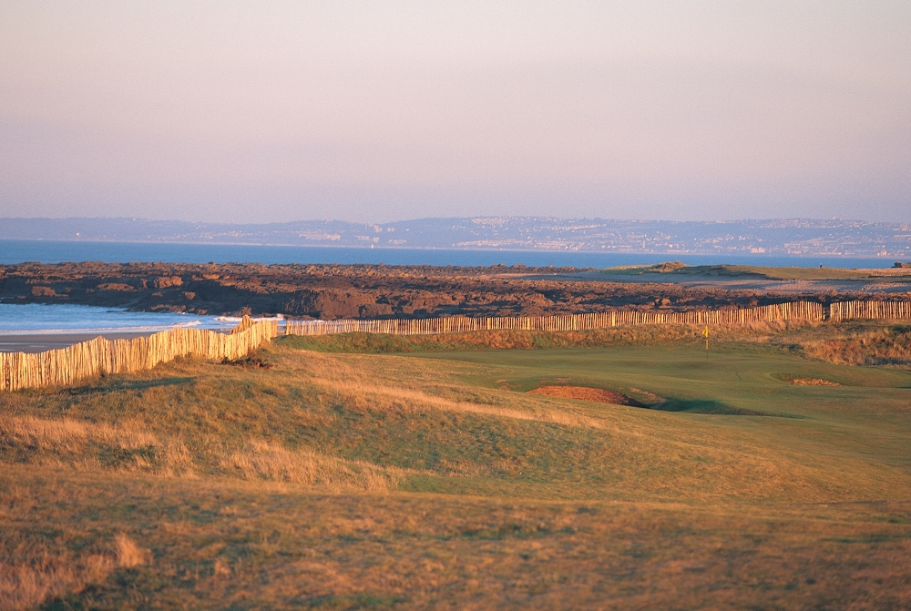 Undulated fairway on the Royal Porthcawl golf course