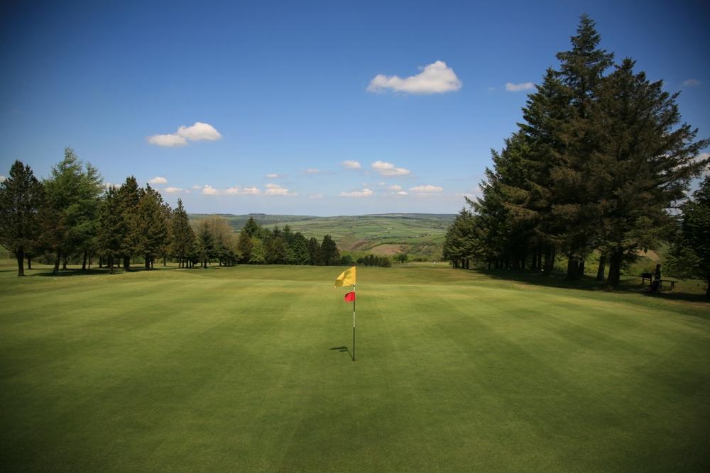 Flag on the Carmarthen golf course