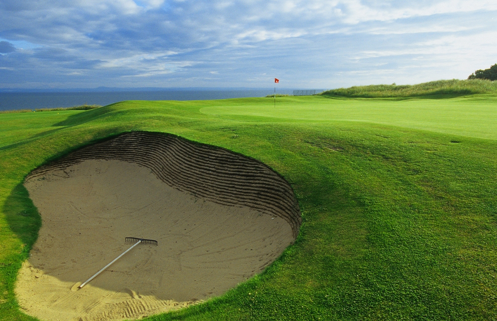 Deep Scottish bunker at Gullane n°1