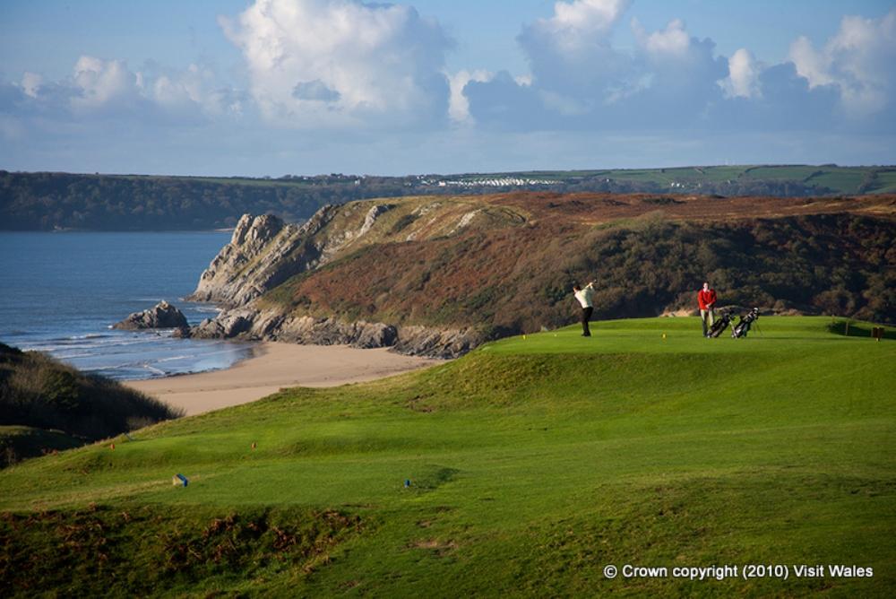 Spectacular views on Pennard golf course