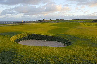 2nd hole bunker from the back at Crail Balcomie