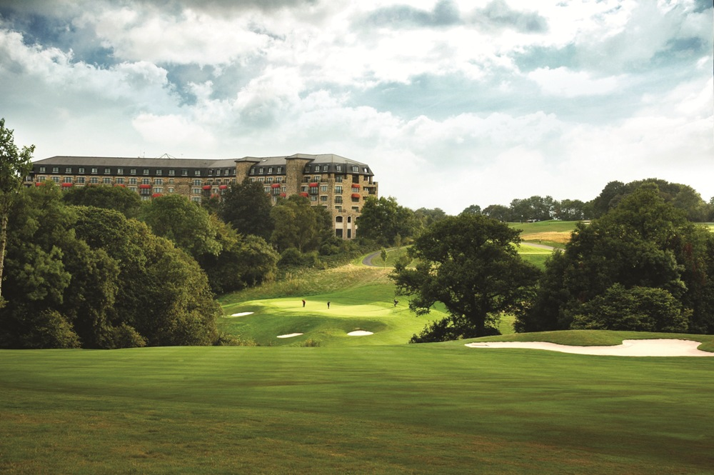 Downhill hole on the Roman Road course at Celtic Manor
