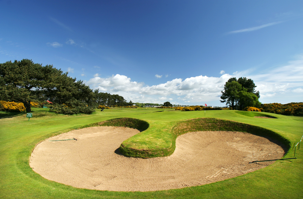 Large bunker on the Championship at Carnoustie