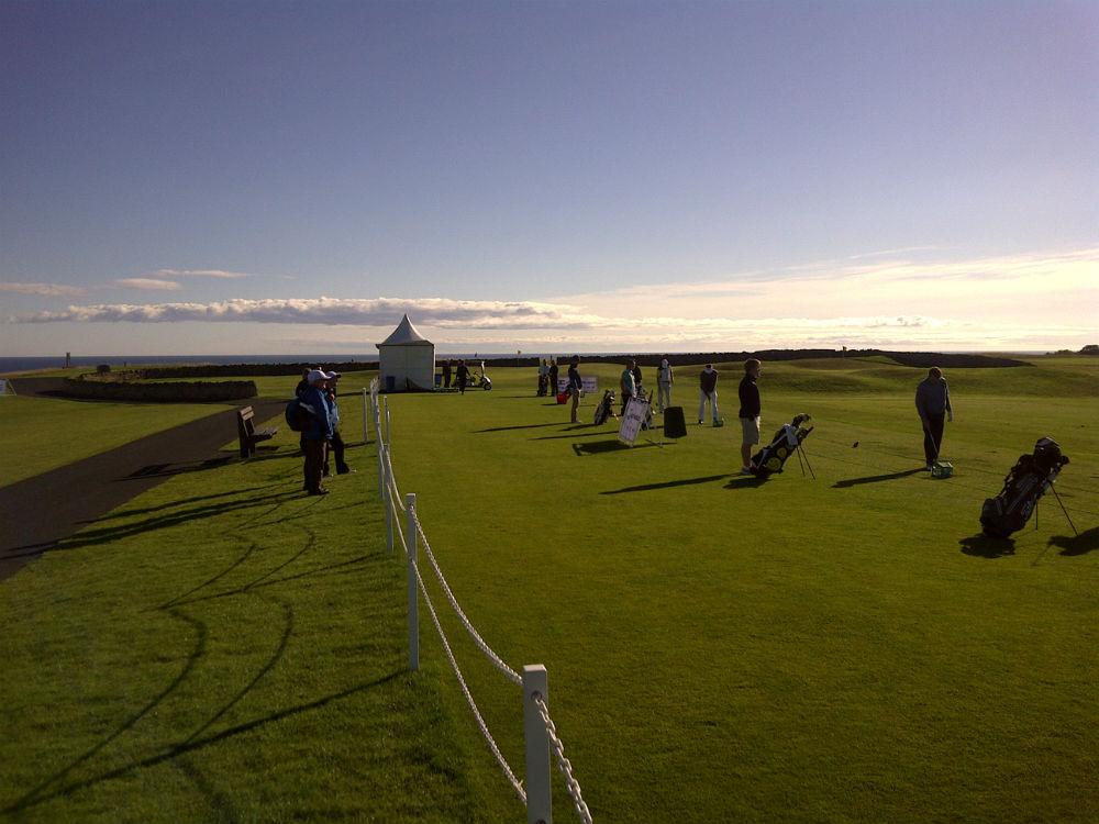 Driving range during the Scottish Senior Open
