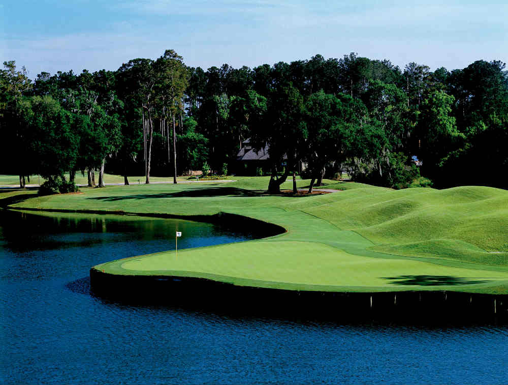 Point d'eau au TPC Sawgrass en Floride