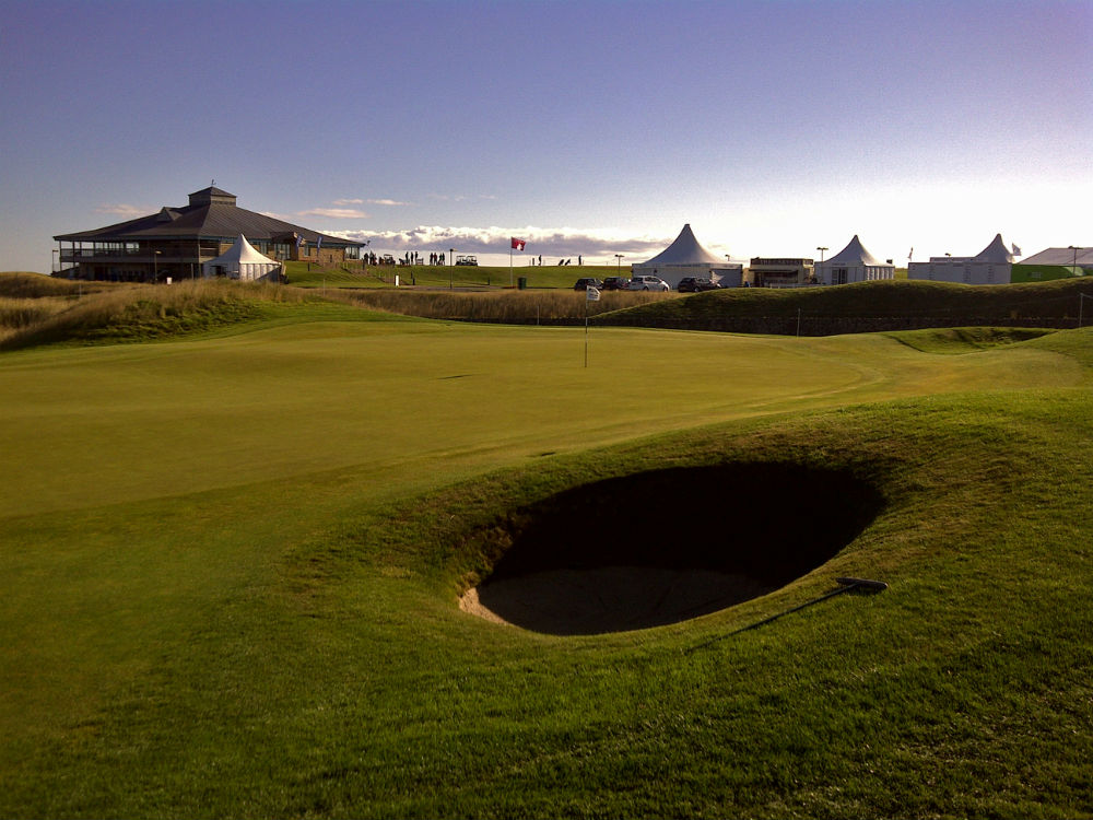18th green of the Torrance course during the Scottish Senior Open