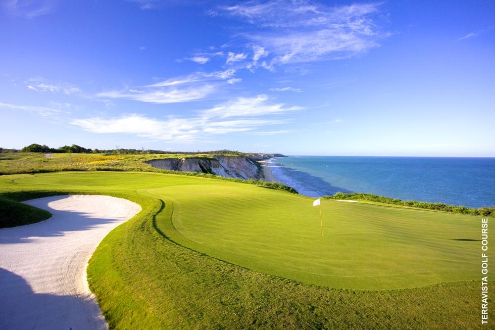 Green at the Terravista Golf Course overlooking the Atlantic Ocean coast