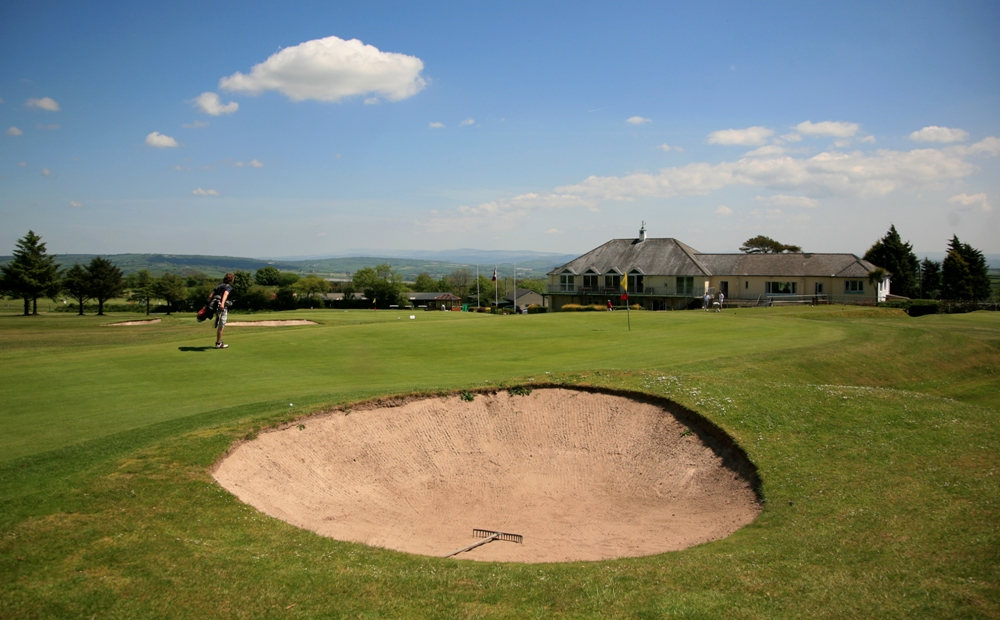Green bunker on the Carmarthen golf course