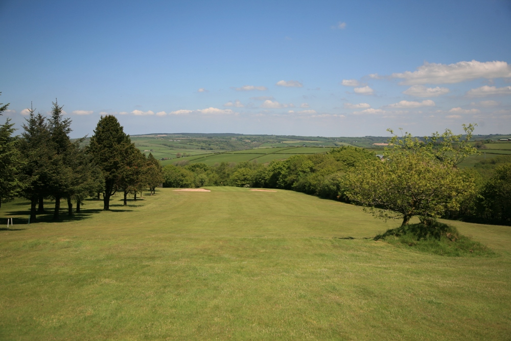 Downhill hole on the Carmarthen golf course