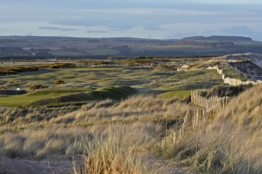 Medal course and dunes at Montrose
