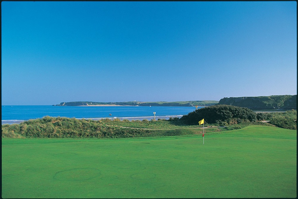 Large green on Tenby golf course