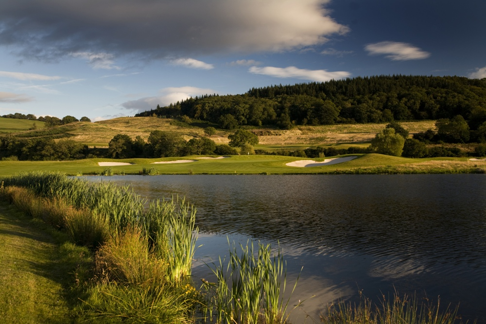 Lake on the Twenty Ten golf course at Celtic Manor