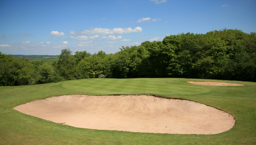 Large bunker on the Carmarthen golf course