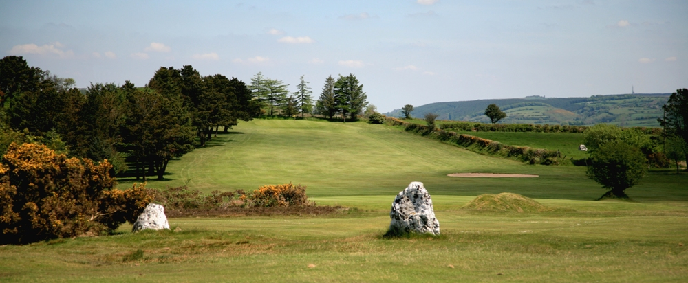 Uphill hole on the Carmarthen golf course