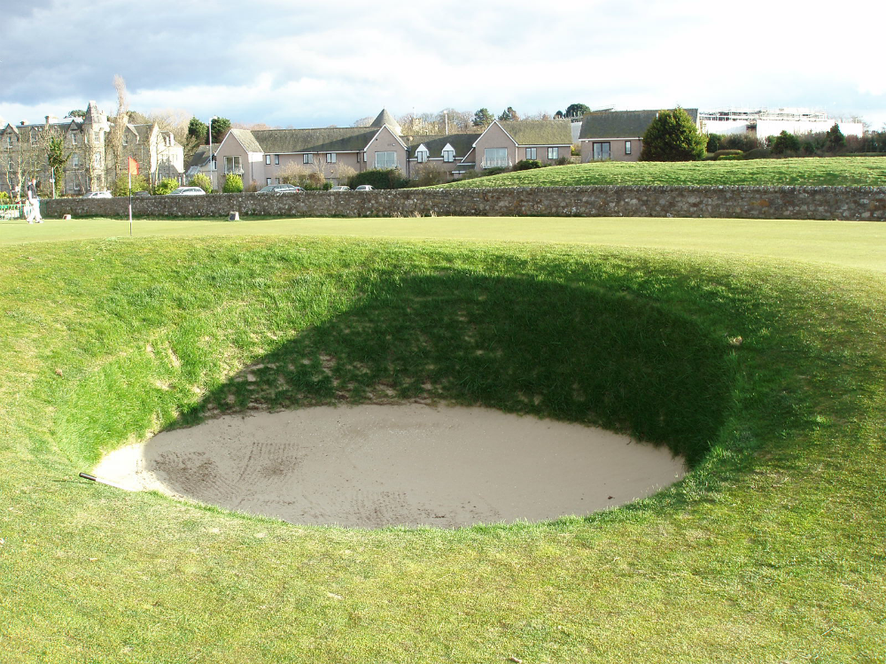 17th hole bunker on the Old Course at St Andrews
