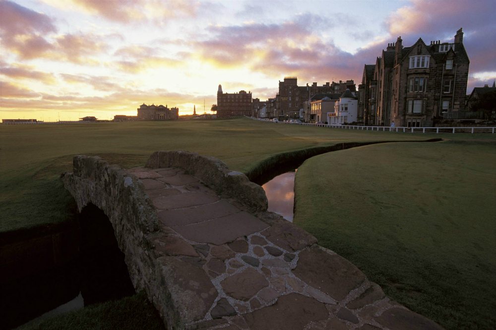18th hole on the Old Course at St Andrews
