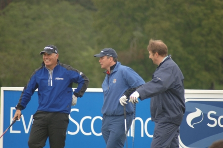 Golfers at the Scottish Hydro Challenge tournament