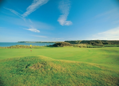 Hole on Tenby golf course
