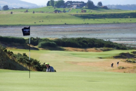 Flag on the Castle Stuart golf course during the Tomatin Pro Am