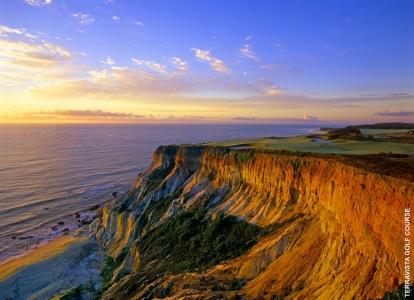 Cliffs by the coast at Terravista Golf Course, Bahia Brazil