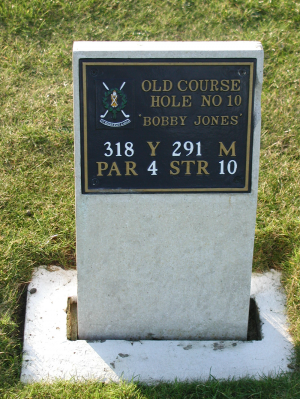 10th hole on the Old Course named Bobby Jones at St Andrews