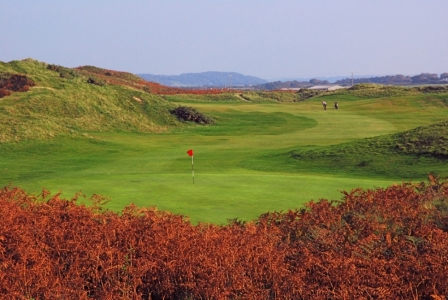 Back of the green on Pyle and Kenfig golf course
