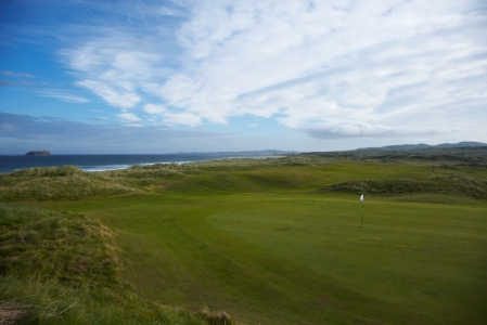 Large green at Ballyliffin