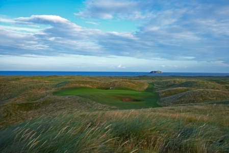 Dunes and green at Ballyliffin
