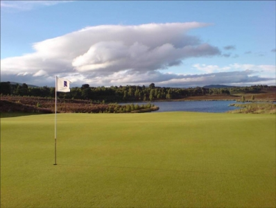 6th green at the Spey Valley golf course