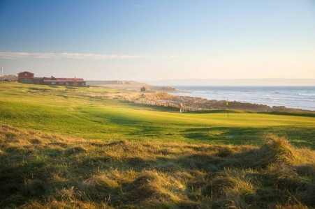 Opening hole on the Royal Porthcawl golf course