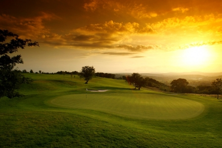 Sunset on the Roman Road course at Celtic Manor