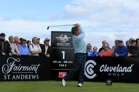 Barry Lane on the Torrance course during the Scottish Senior Open