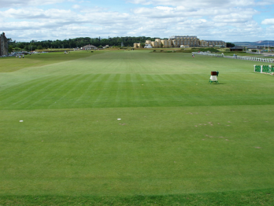 1st tee of the Old Course at St Andrews