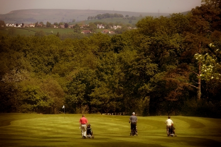 Players on the Wales National course at the Vale resort