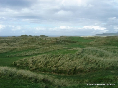 Tee box at Machrihanish golf course