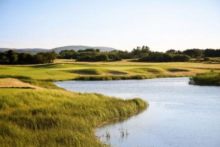 Lake on the Machynys golf course