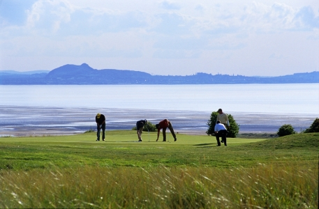 Golfers playing at Gullane n°2