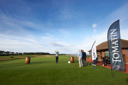 First tee at Nairn for the Tomatin Pro Am