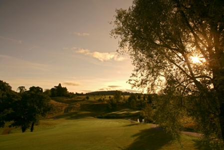 Sunset on the Montgomerie course at Celtic Manor