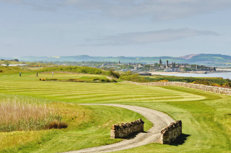 St Andrews behind the 17th hole of the Kittocks