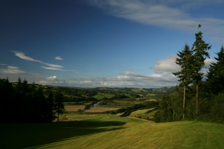 Landscape on the Montgomerie course at Celtic Manor