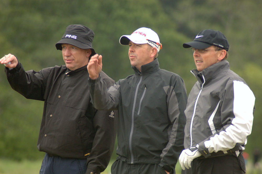 Golfers at the Scottish Hydro Challenge Pro Am