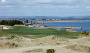6th hole of the Castle Course overlooking the town of St Andrews