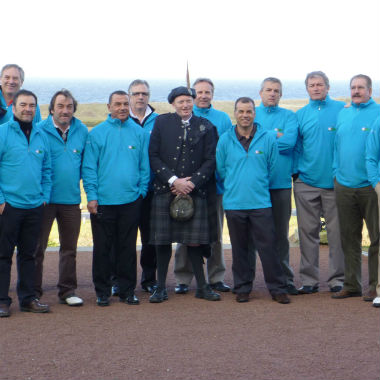 Groupe de golfeur événement d'entreprise