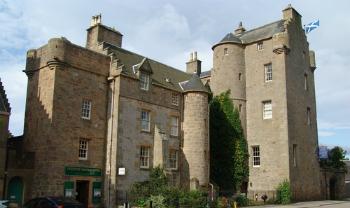 Front of the Dornoch Castle Hotel