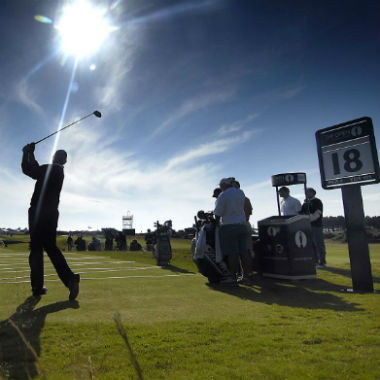 Loch 18 beim British Open