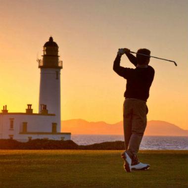 Golfspieler in Turnberry