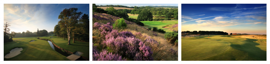 Pictures of golf courses in England