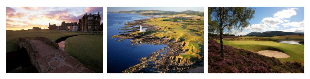 image of golf courses in Scotland
